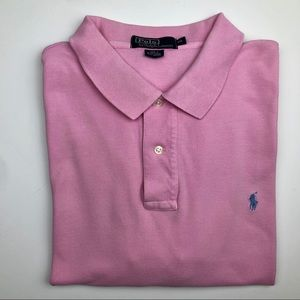 Polo By Ralph Lauren Pink Polo Shirt Size XXL
